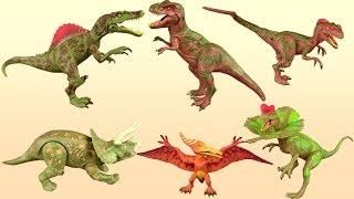 Dinosaur Toy Collection Tyrannosaurus Spinosaurus Triceratops Toy Review - Fun Educational