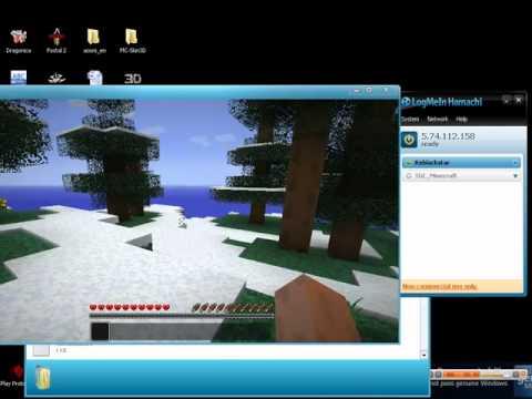 Minecraft วิธีเล่นผ่าน Hamachi 100%
