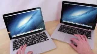 Macbook Pro 13 Retina vs. Macbook Pro 13 2012 Comparison | Apple MBP 13 in 15 inches