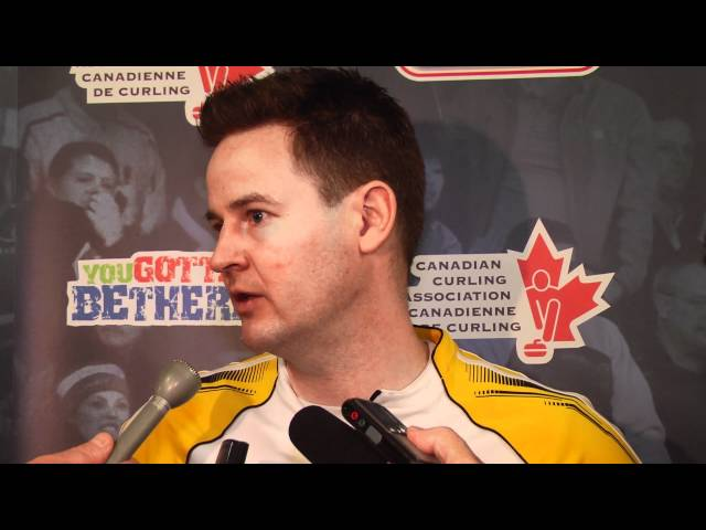 2012 Tim Hortons Brier Draw 14 Media Scrum
