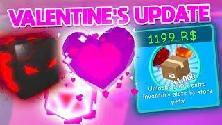 VALENTINE'S UPDATE! (SECRET CODE + PET) | ROBLOX Bubble Gum Simulator Update 15 Review