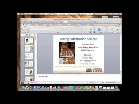 Baking Substitution Science Webinar: April 2013