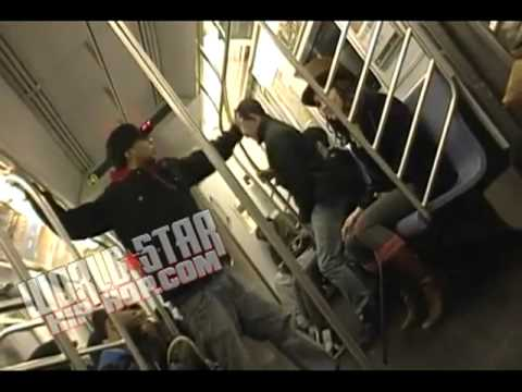 Only In NY: Dude Blacked Out On A Female In NYC Train.. Disrespects & Calls Her Willy Wonka!