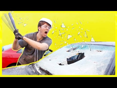 DESTROYING A CAR! *NOT CLICKBAIT*