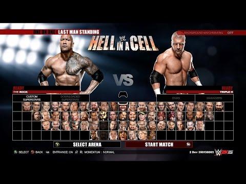 WWE 2K15 Next Gen Gameplay - The Rock vs Triple H | Last Man...