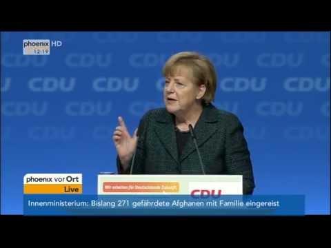 CDU-Parteitag: Rede der Kanzlerin Angela Merkel am 9.12.2014