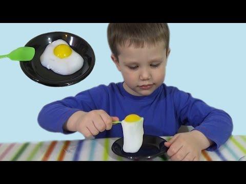 Яичница прикол игрушка Scrambled funny toy