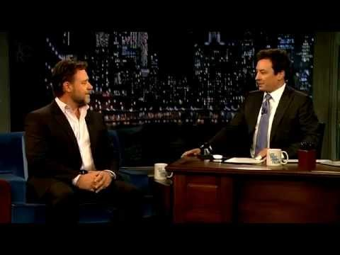 Russell Crowe at Late Night With Jimmy Fallon