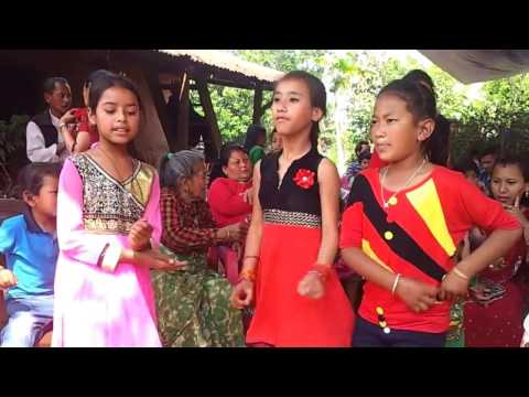 Nepalese children dance in nepali song