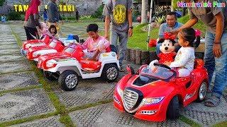Naik odong-odong mobil mobilan mainan anak sama boneka mini mouse power wheels ride on cars for kids