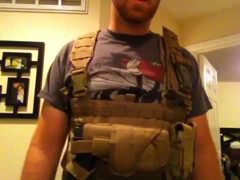 Condor tactical vest, mag pouches, and holster review