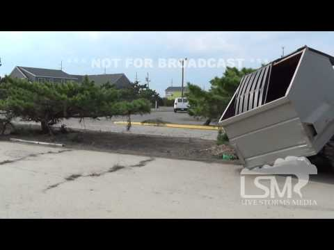 7/4/14 Rodanthe, NC; Hurricane Arthur Storm Damage *Logan Poole HD*
