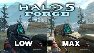 PC Graphics Comparison - HALO 5 Forge - Low vs Ultra Settings