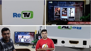 ReTV India Unboxing, Hindi Review, Setup, Interface Tour, Features   Gadgets To Use