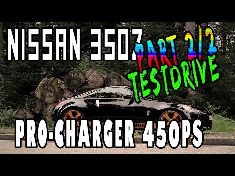 Nissan 350Z 3.6l 450hp ProCharger Testdrive 2   www.theibach-performance.de