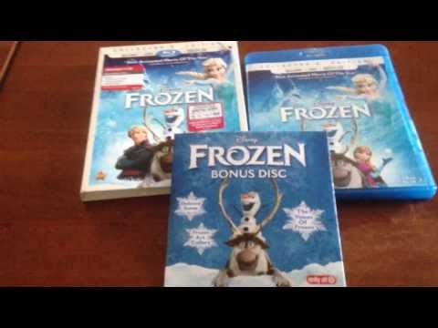 *UNBOXING* DISNEY'S FROZEN BLU RAY/DVD/DIGITAL COPY (TARGET EXCLUSIVE!) BONUS DVD!