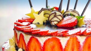 11:10 Strawberry Cake recipes 🎂birthday cake recipes Gluten free