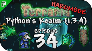 Terraria 1.3.4 Let's Play | Epic Weapons & Lunatic Cultist! | Python's Realm [Episode 34]
