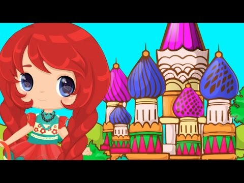 ★☆Baby Around The World: Russia Gameplay Fun Cooking, Dress Up and Colouring Games For Kids★☆