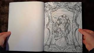 "presentation ""Adult Coloring Book Horror Hotel Witch Hunt"""