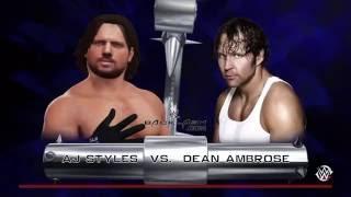 Dean Ambrose vs. AJ Styles   WWE Backlash 2016   WWE2k'16 Simulation (HD)