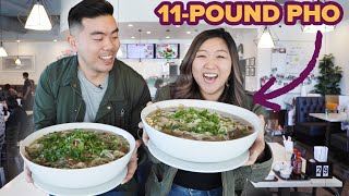 I Challenged My Friend To Eat An 11-Pound Bowl Of Pho • Giant Food Time