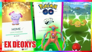 FIRST EX DEOXYS INVITE - LUCKY SHINY SNUBBULL & SHINY GEODUDE in Pokemon Go!