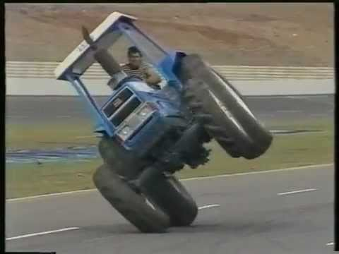 Tractor Stunt going at 2 wheels must download it good to watching.flv