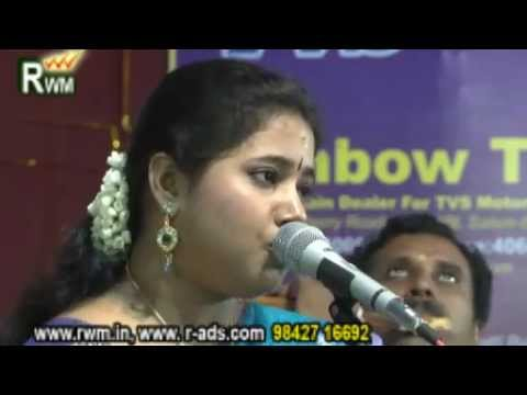 Kurai Ondrum Illai Song By Airtel Super Singer dhanyasri salem Ayyapa Asram Right Win Medias Salem video