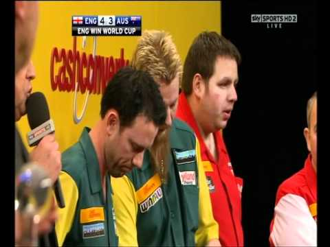 Paul Nicholson Bitter Sore Loser Darts World Cup England vs Australia 2012