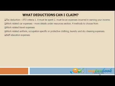 Tax Tips 2012 - What deductions can I claim on my tax return