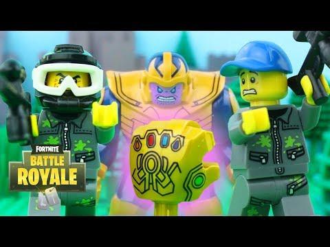 LEGO Fortnite Battle Royale STOP MOTION LEGO Fortnite Thanos Gauntlet Chaos   LEGO   By Billy Bricks