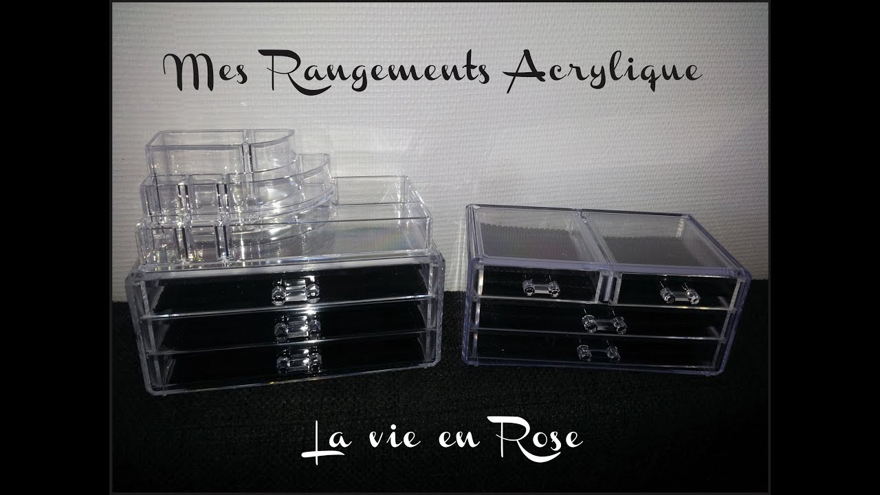 Haul rangements maquillage acrylique chez leclerc - Rangement acrylique maquillage ...
