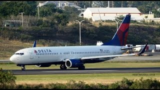 Delta Boeing 737-800 Taxi & Takeoff from V.C Bird International Airport Antigua [HD]