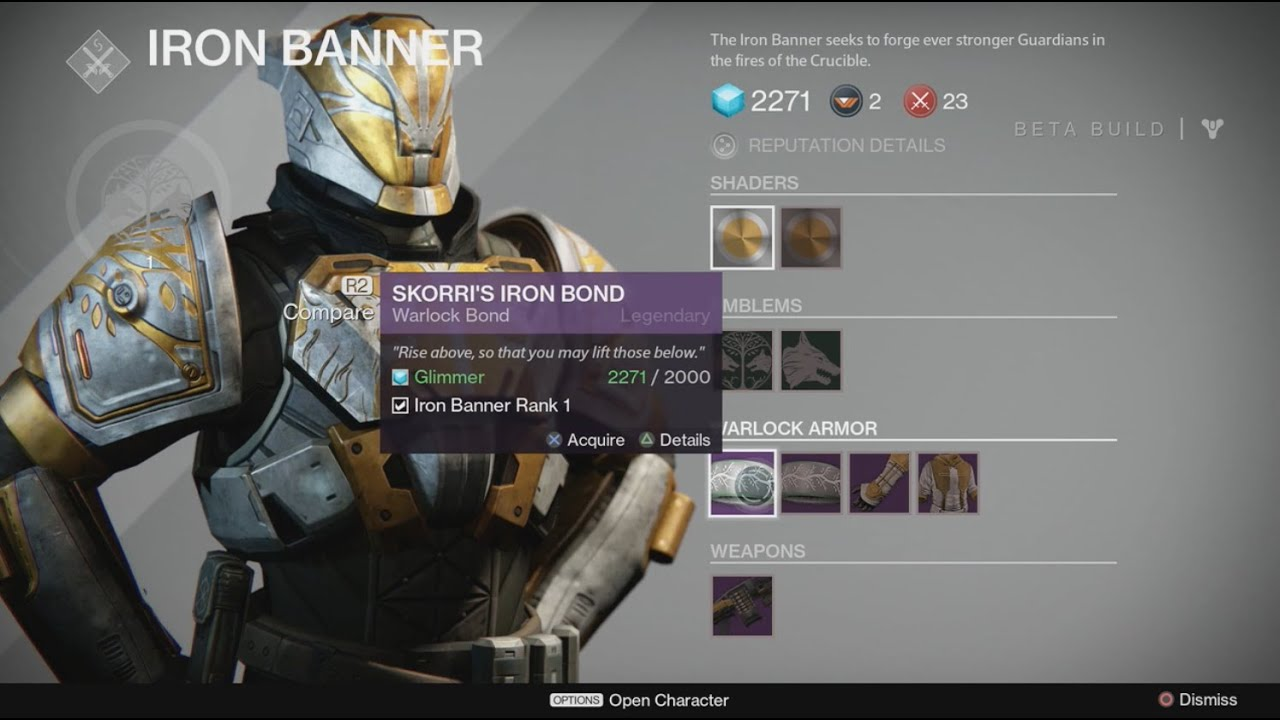 Destiny tips how to get iron banner armor youtube