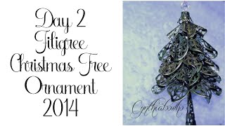 Day 2 of 10 Days of Christmas Ornaments with Cynthialoowho 2014!