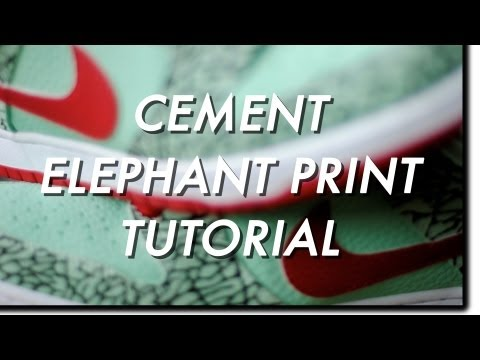 How To Custom Nike SB Cement / Elephant Print Tutorial