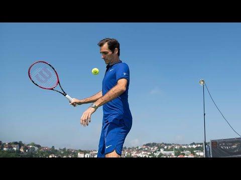Federer Hits Tweener On A Roof
