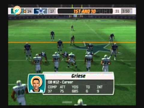 Madden NFL 07 Historic Teams Tournament 1972 Miami Dolphins vs 1992 Dallas Cowboys Video Game Simulation Video Game (Video Game Genre) PlayStation 2 (Video Game Platform) American Football (Sport)