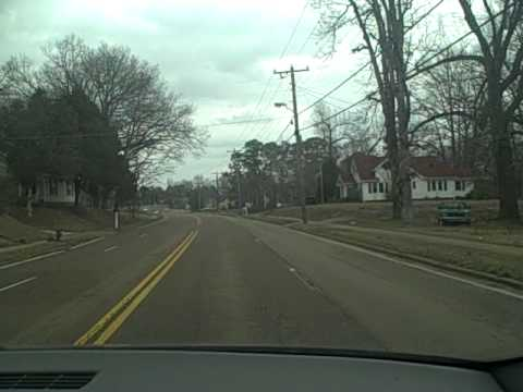 driving in Lexington Tennessee this is my town