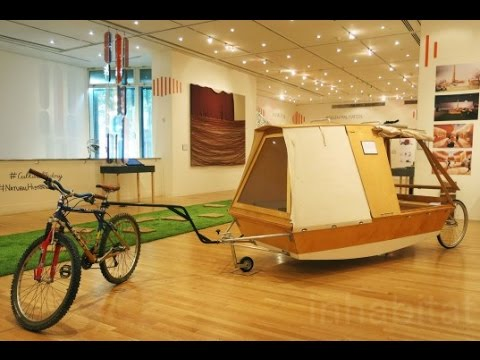 Nomadic Water Bed on wheels lets you camp on urban rivers