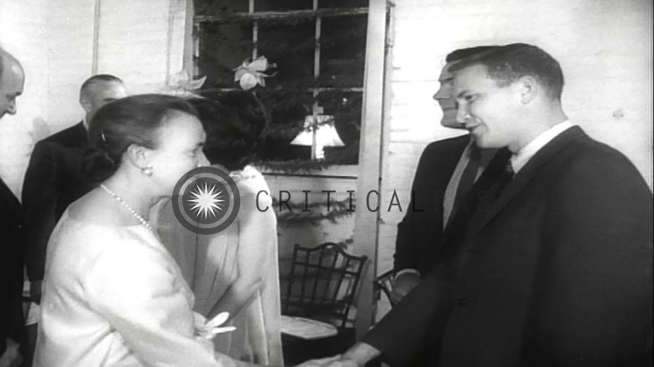 Luci Johnson And Patrick Nugent At Their Pre Wedding Reception In Washington DCHD Stock