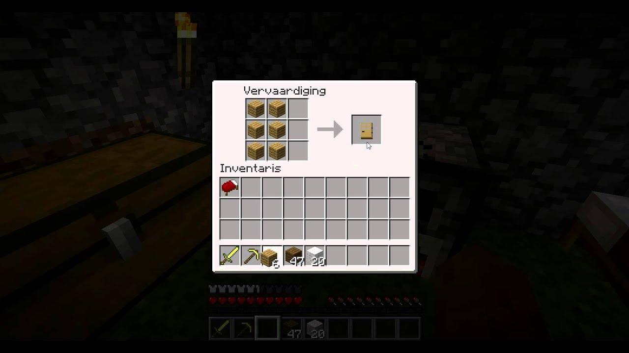Minecraft for dummys 3 hoe maak je een deur bed bordje youtube - Hoe maak je een woonkamer ...