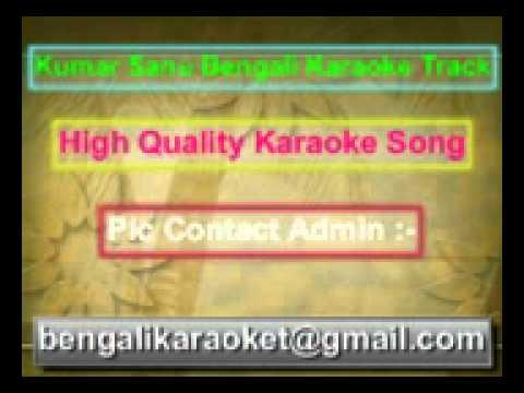 Bhorer Hawai Pathiye Dilam Amar Prothom Gaan Karaoke Kumar Sanu...