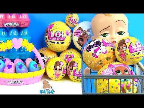 Куклы ЛОЛ! Питомцы ЛОЛ в поисках Семьи! Губка Боб LoL Босс Молокосос! Видео для детей