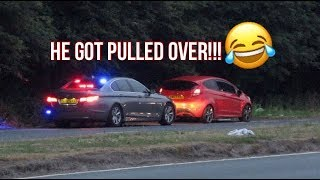 POLICE GOT HIM!! Modified Cars Leaving a Car Meet - July 2018