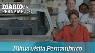 Dilma visita f�brica da Fiat em Goiana PE