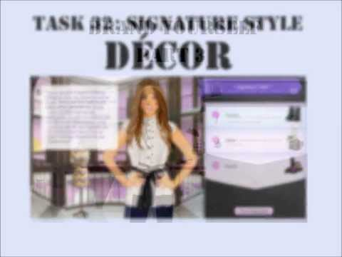 Stardoll Academy Walkthrough Task 32: Signature Style DÉCOR: Brand Yourself Part 3