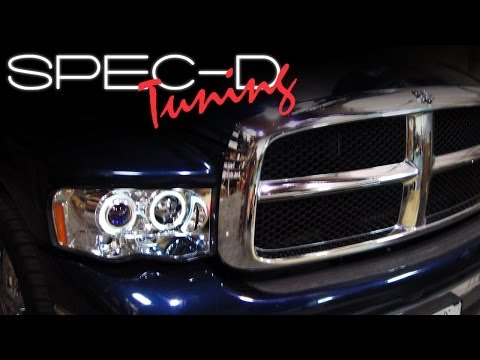 SPECDTUNING INSTALLATION VIDEO: 2002-2005 DODGE RAM HEAD LIGHTS / PROJECTOR HEAD LIGHTS