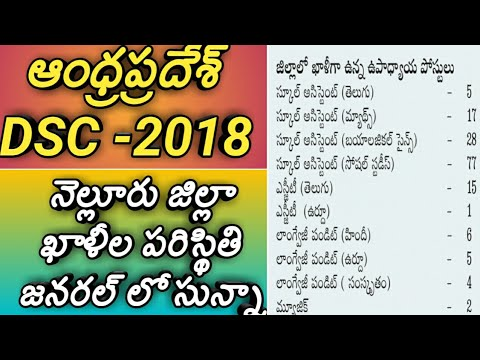 Ap dsc notification 2018|ap dsc nellore district vacancies 2018|ap dsc vacancies latest news 2018